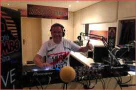 DJ of 69 Set for Yes Radio at Cafe Mambo Studio Ibiza